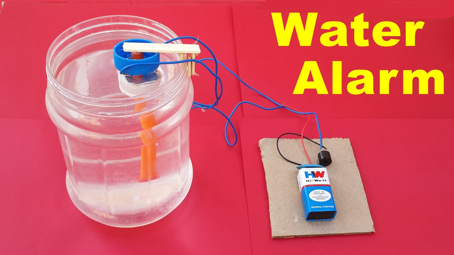How to make a simple water level indicator alarm at home for How to level a house